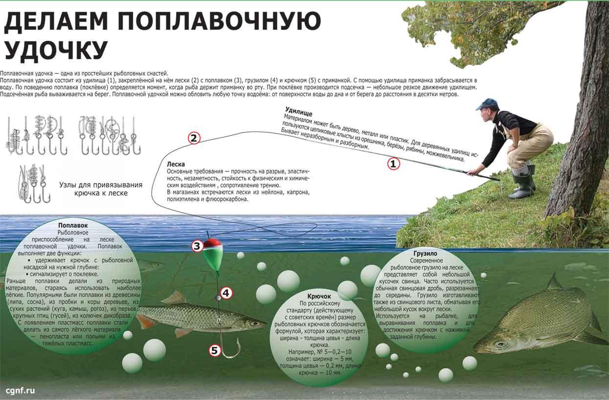 Секреты оснастки поплавочной удочки